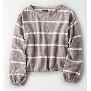 American Eagle - Chenille Striped Sweater